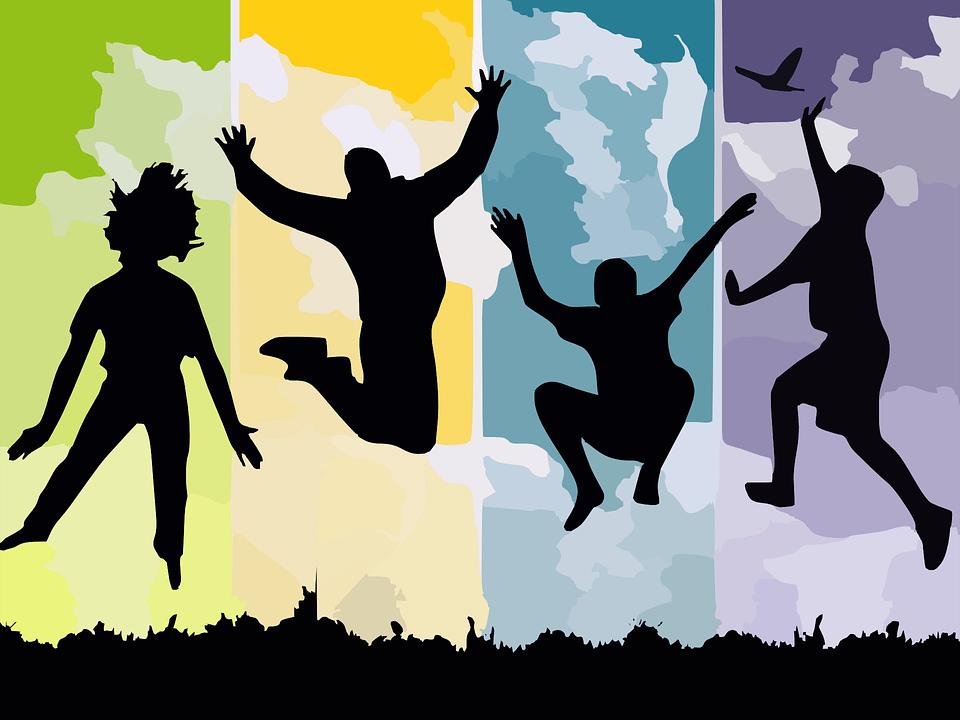 מידע והכוונה - אנשים קופצים באוויר