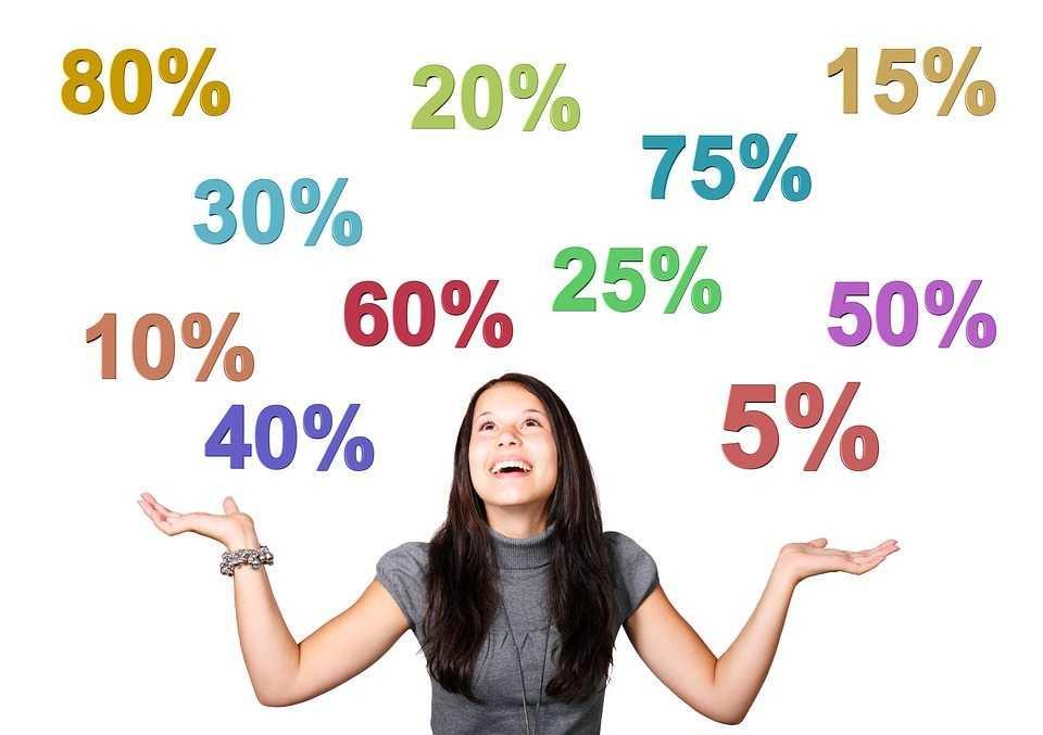 פיקדון אישי - בחורה מסתכלת על אחוזים