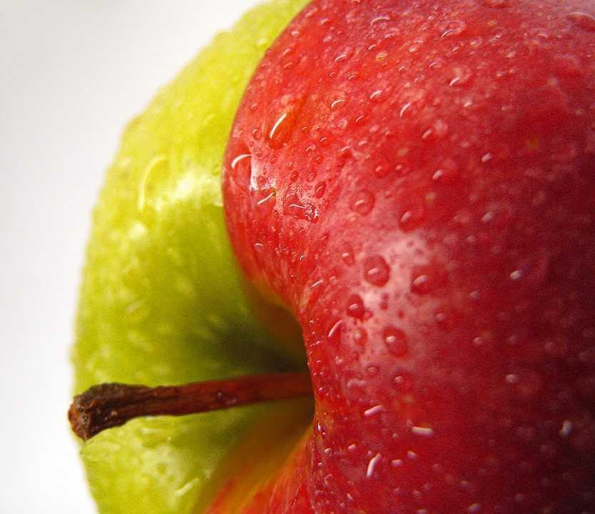ריאלי או הומני - תפוח עם שני צבעים